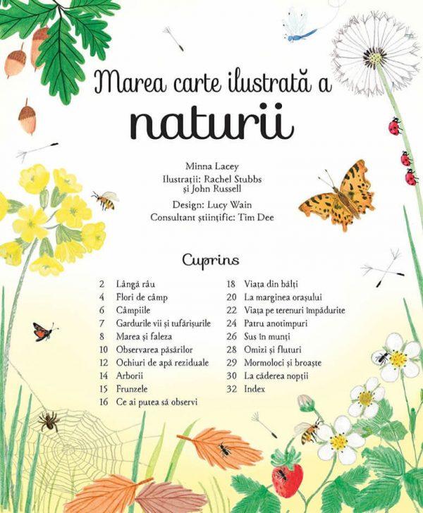 Marea carte ilustrată a naturii (Big Picture Book Outdoors Usborne) – Editura Univers Enciclopedic