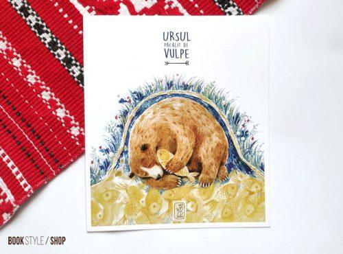 Carte poștală - Ursul păcălit de vulpe - Aliona Bereghici