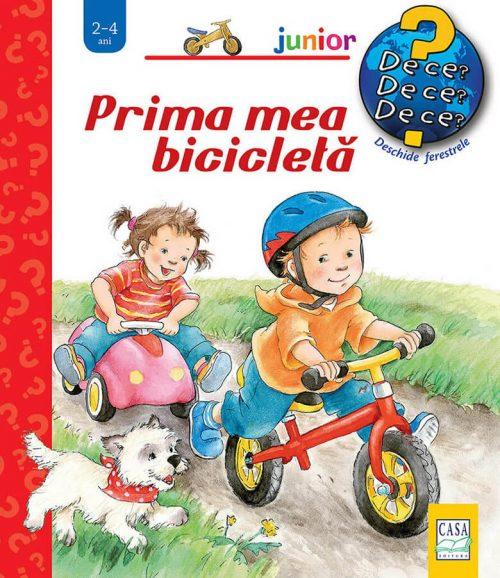 Prima mea bicicletă, de Frauke Nahrgang, Susanne Szesny - carte cu ferestre colectia de ce editura casa