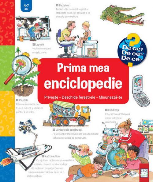Prima mea enciclopedie interactivă, cu clapete/ferestre – Colecția Junior (4-7 ani) | Editura Casa