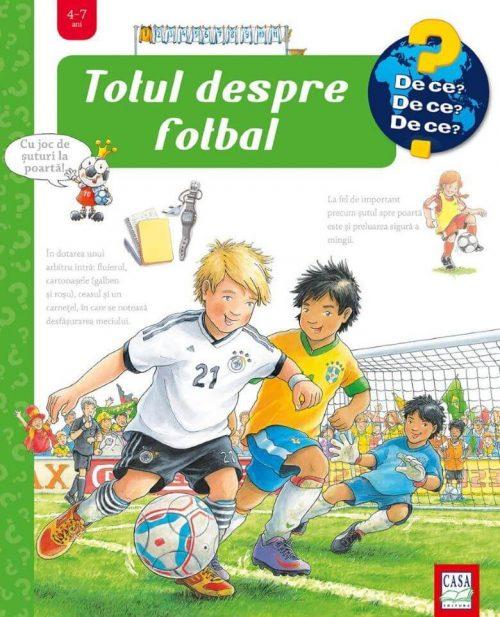 Totul despre fotbal, de Peter Nieländer - carte cu ferestre 4-7 ani - editura casa colectia de ce