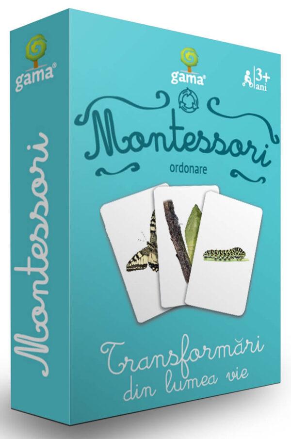 Cărți de joc Montessori – Transformări din lumea vie - Editura Gama