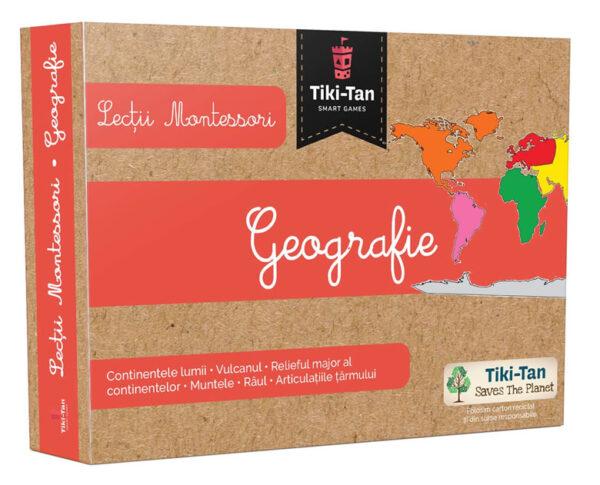 Lecții Montessori - Carduri geografie - Tiki-Tan Games