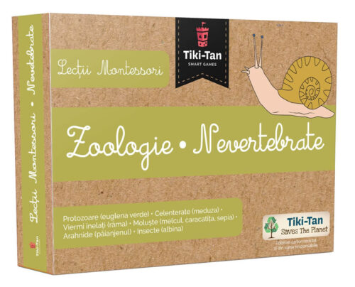 Lecții Montessori - Carduri Animale Zoologie - Nevertebrate - Colectia Tiki-Tan - Smart Games