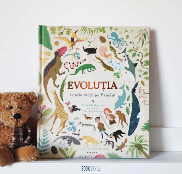 Evoluția. Istoria vieții pe Pământ, de Anna Claybourne și Wesley Robins – Editura Litera