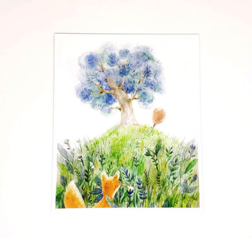 vulpea-si-balonul-carte-postala-aliona-bereghici-ilustratii-copii