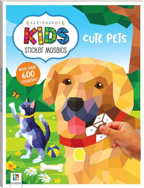 Kaleidoscope Kids Sticker Mosaics. Cute Pets