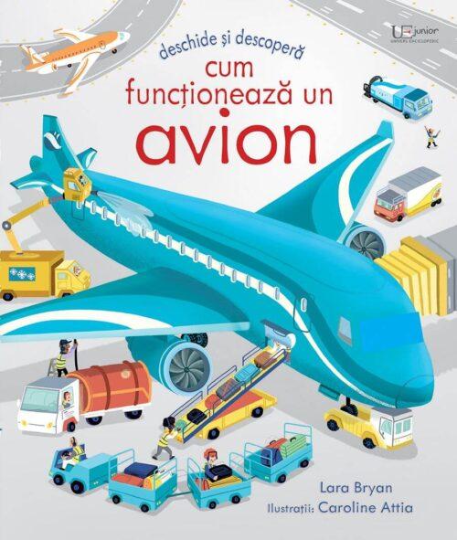 Cum functioneaza un avion - Usborne - carte cu ferestre/clapete română
