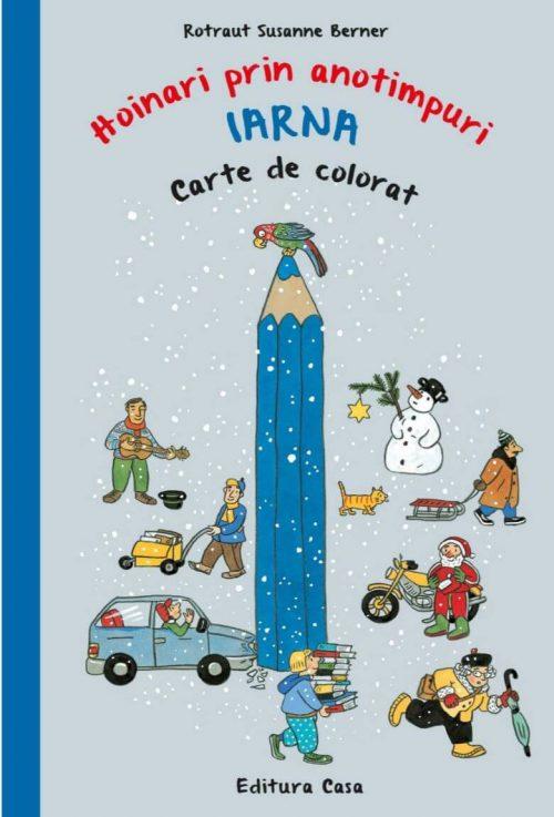 Carte de colorat - Hoinari prin anotimpuri. Iarna