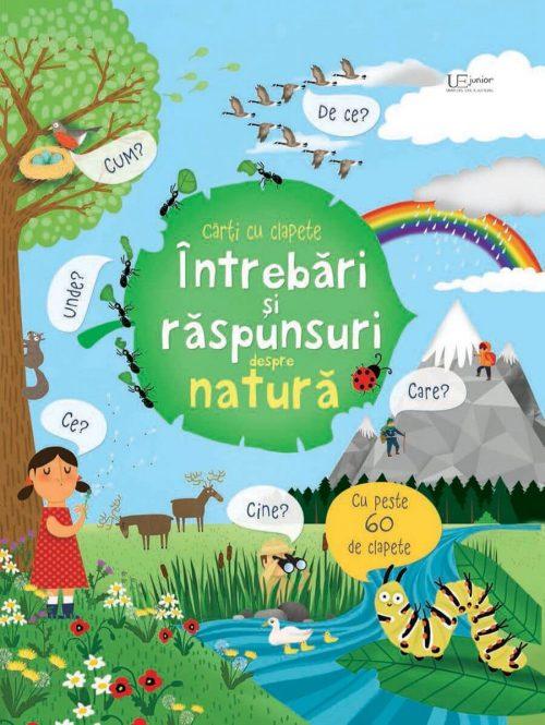 Întrebări și răspunsuri despre natură - Carte ferestre - Usborne română - UEJ