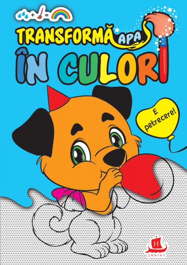 Transformă apa în culori. E petrecere - Carte de colorat cu apă
