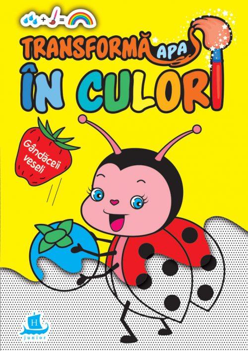 Transformă apa în culori. Gândăceii veseli - Carte de colorat cu apă